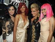 Nicki Minaj Katy Perry Rihanna Kesha