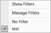 Hidden Filters menu