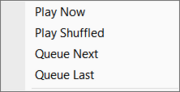 Search Results menu