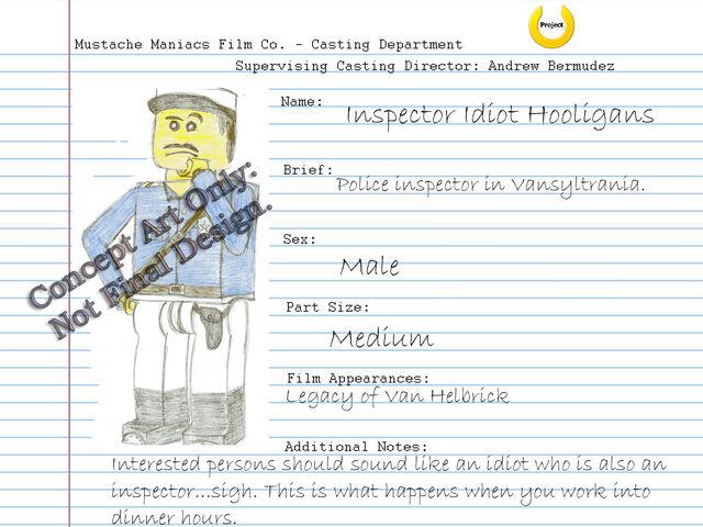 File:Audition Sheet - Inspector Idiot.jpg