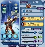 Thor TS stats