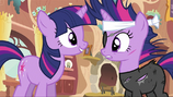 Twilight talking to future Twilight S2E20