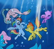 12644 - artist C4tspajamas rainbow dash sea ponies spitfire