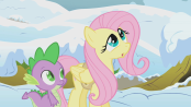 174px-Fluttershy and Spike S1E11