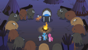 200px-RD, Pinkie Pie, and Spike meeting Buffalo tribe and LSH S1E21
