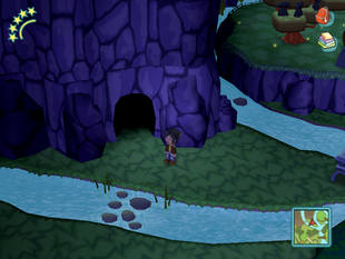 Spooky Forest Cave Entrance
