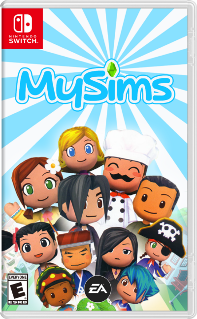 Nintendo-switch mysims boxart final little