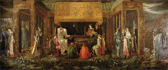 Burne-Jones Last Sleep of Arthur in Avalon v2