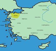 Mysia map ancient community