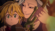 Ban trying to take Meliodas sword