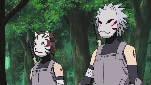 Berkas:Tenzō and Kakashi as Anbu.png