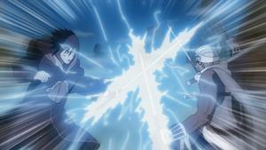 Sasuke and B clashing