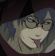 Kabuto tongue out