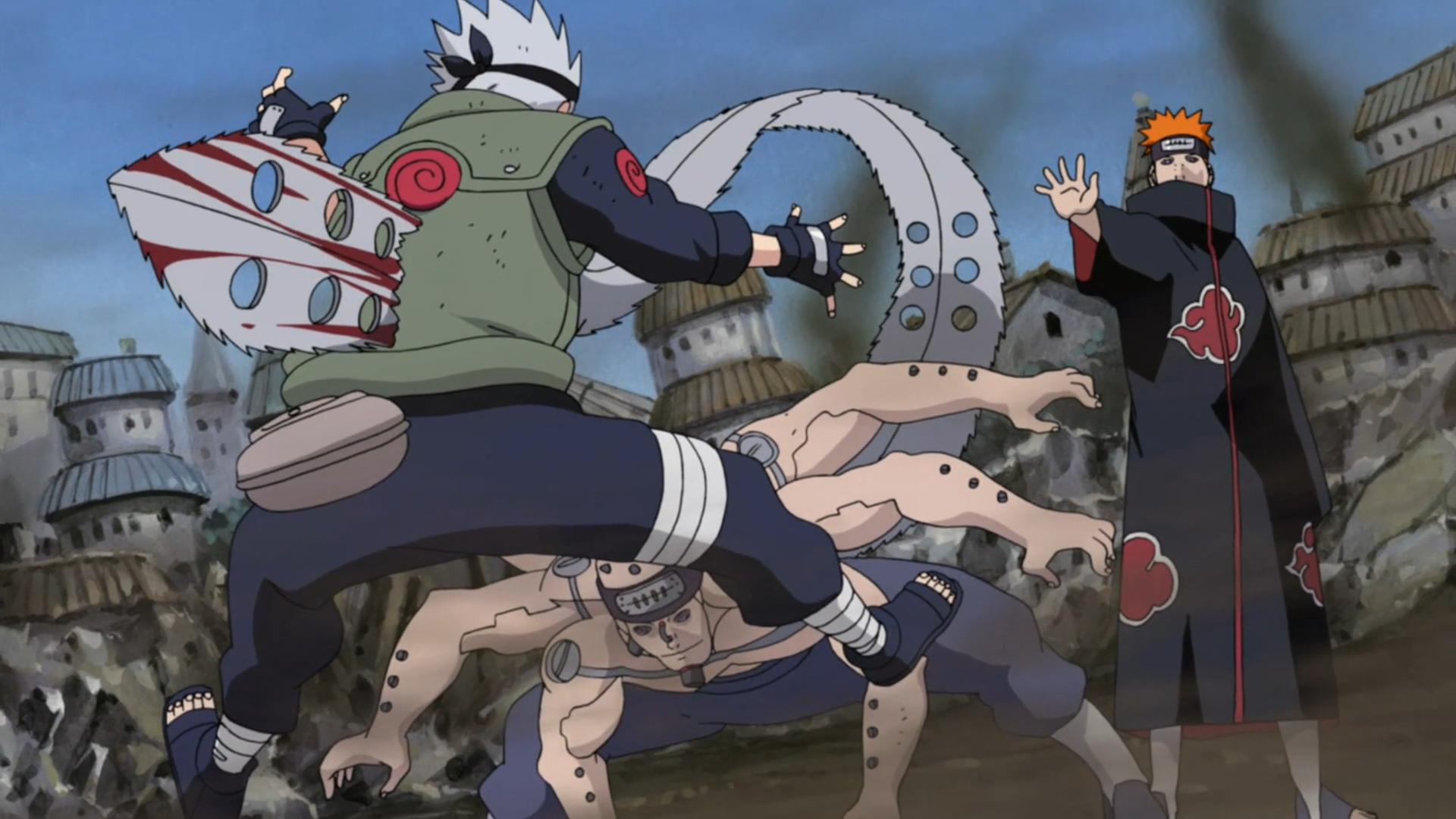 Naruto Kakashi Dies Kakashi vs Pain