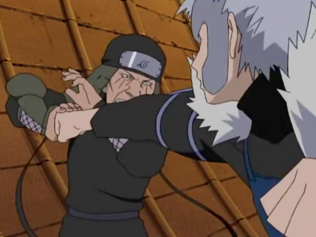 File:Tobirama attacks Hiruzen.png