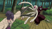 Anko and Kabuto clash.png