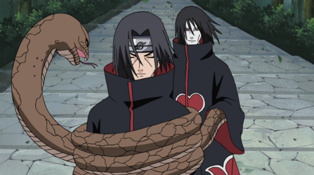File:Orochimaru attacks Itachi.png