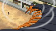 Sakura defeats centipede