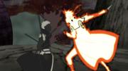 Minato attacks Obito