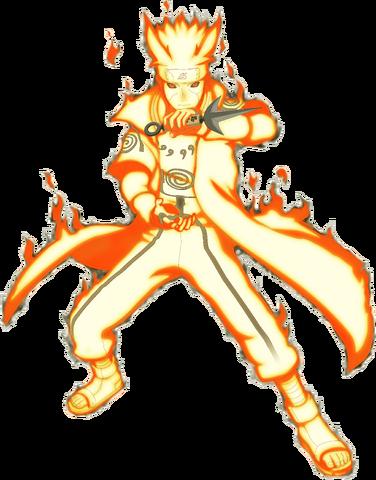 File:Minato's nine-tails chakra mode.png