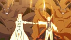 Minato and Naruto bump fists.png