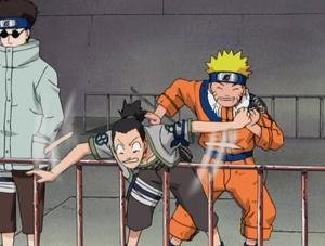 Shikamaru Being Hit Into The Arena
