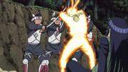 Naruto saving Hinata