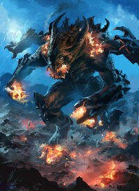 Fire lava colossus by neisbeis-d3if322