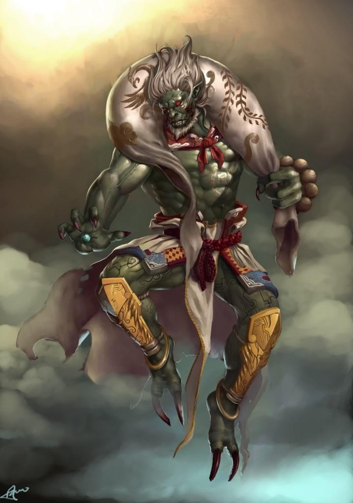 Fujin, God of the Wind