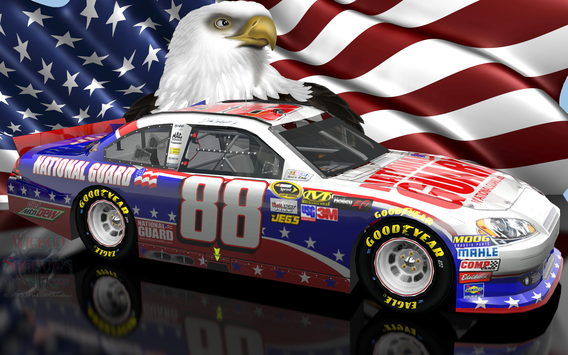 Image - Dale Earnhardt Jr NASCAR Unites Patriotic wallpaper 16x10.jpg | Stock Car Racing Wiki ...