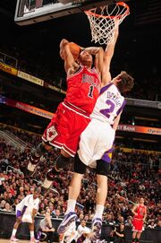 Derrick Rose Dunks On Goran Dragic