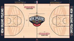 New Orleans Pelicans court 2015