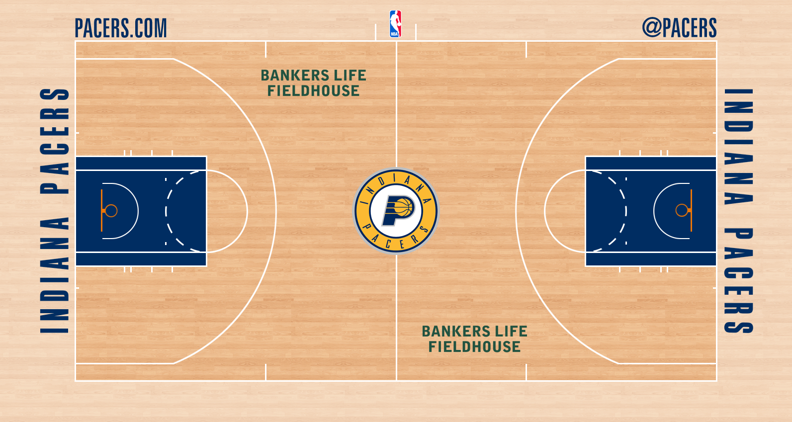 Image - Indiana Pacers new court logo.png | Basketball ...