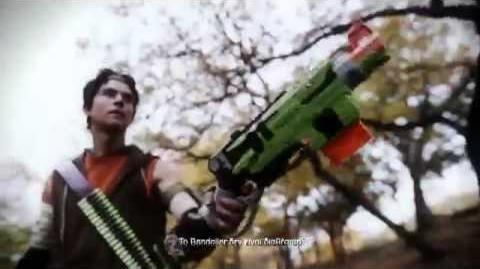 "Nerf Greece - TV Spot ""Zombie Strike Slingfire"""