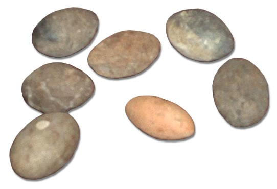File:Sling bullets clay and stone.JPG