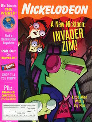 Nickelodeon Magazine cover May 2001 Invader Zim