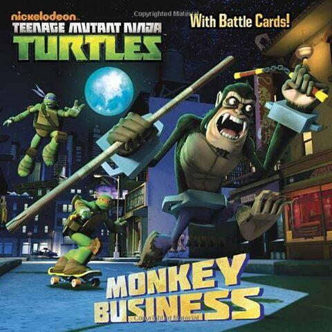 File:Teenage Mutant Ninja Turtles Monkey Business Book.jpg