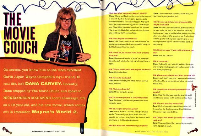 File:Nickelodeon Magazine Holiday 1993 Dana Carvey interview Waynes World Garth Algar p70 p71.jpg