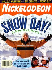 Nickelodeon Magazine cover January February 2000 Snow Day