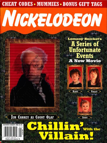 File:Nickelodeon Magazine cover December January 2005 series unfortunate events.jpg