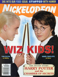Nickelodeon Magazine cover November 2002 Harry Potter Chamber of Secrets