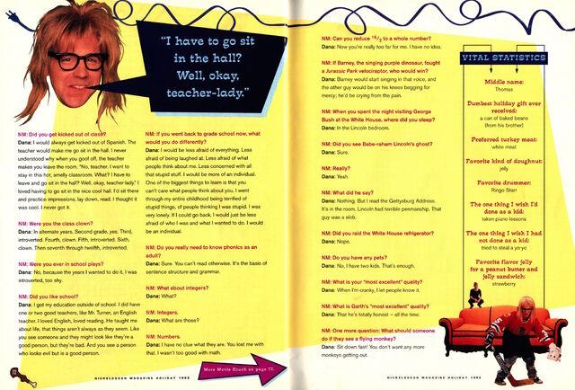 File:Nickelodeon Magazine Holiday 1993 Dana Carvey interview Waynes World Garth Algar p72 p75.jpg