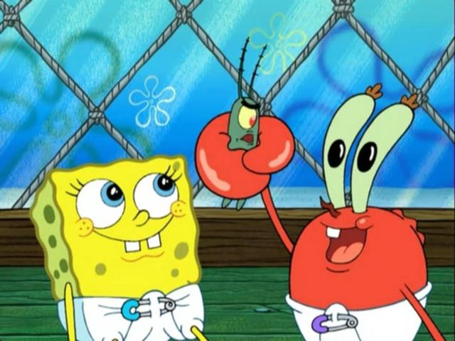 File:Baby Spongebob, Sheldon, & Baby Mr. Krabs.jpg