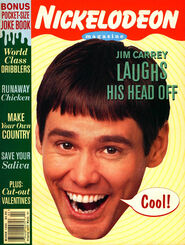 Nickelodeon Magazine cover March 1995 Jim Carrey