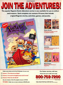 Rugrats Comic Adventures Advertisement Nickelodeon Magazine May 2001