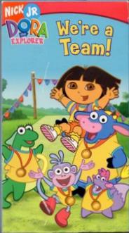 File:Dora the Explorer We're a Team VHS.png