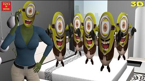 5 Little SHREK MINIONS Jumping On The Bed & MORE Nursery Rhymes for Children 3D Animation