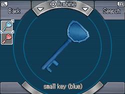 Small key (blue)