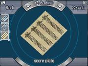 Score-plate