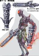 NG2 Art Enemy Chainsaw Zombie 2 Design